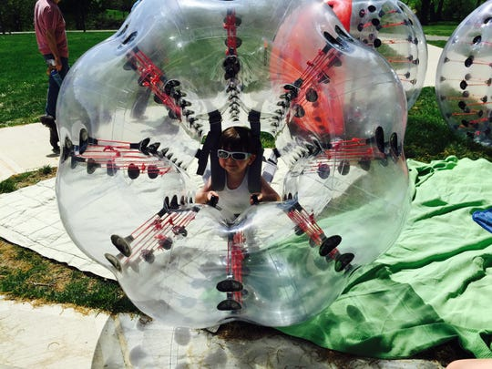 Knockerball is a game that can be played by all ages.