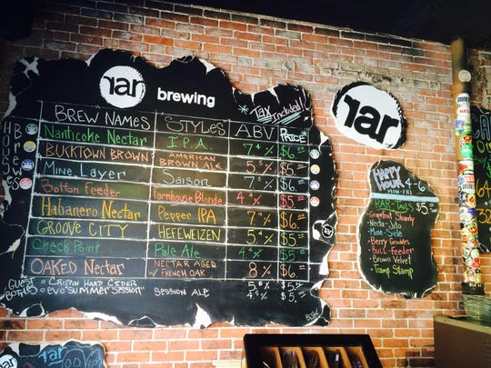 RAR has four main line beers and four other taps for seasonal or experimental brews.