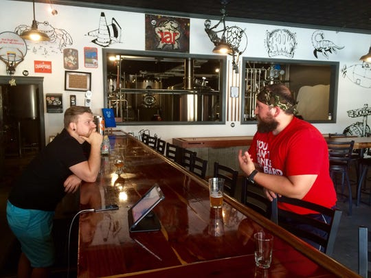 RAR employees Joe Ewell and Ryan Liszewski chat about, what else? Beer.