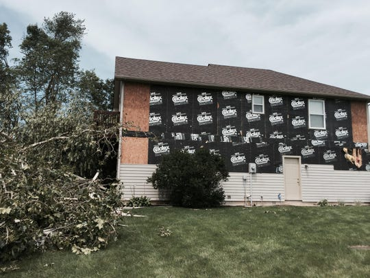 Richard Boener's house sustained some damage due to