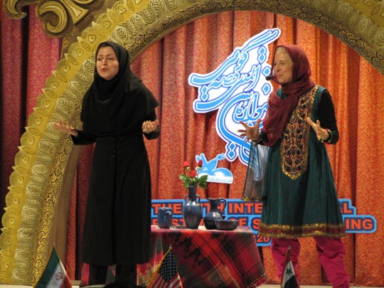 In April, storyteller Kristin Pedemonti traveled to Iran to tell stories. She was the first American ever invited to the Kanoon Storytelling Festival.