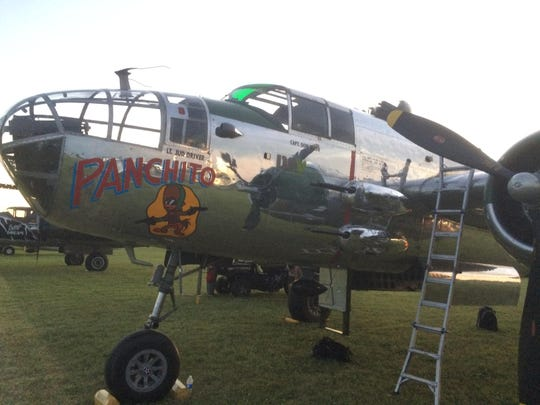 """""""Panchito,"""" a B-25 bomber, flew missions in the Pacific theatre during World War II."""
