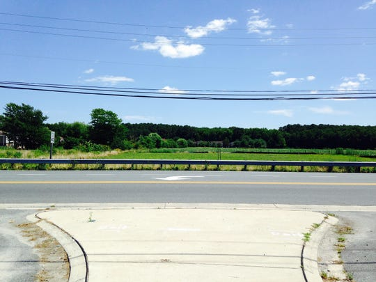 A view looking across Old Ocean City Boulevard in Berlin where Oxford Chase Development has proposed building a Dollar General.
