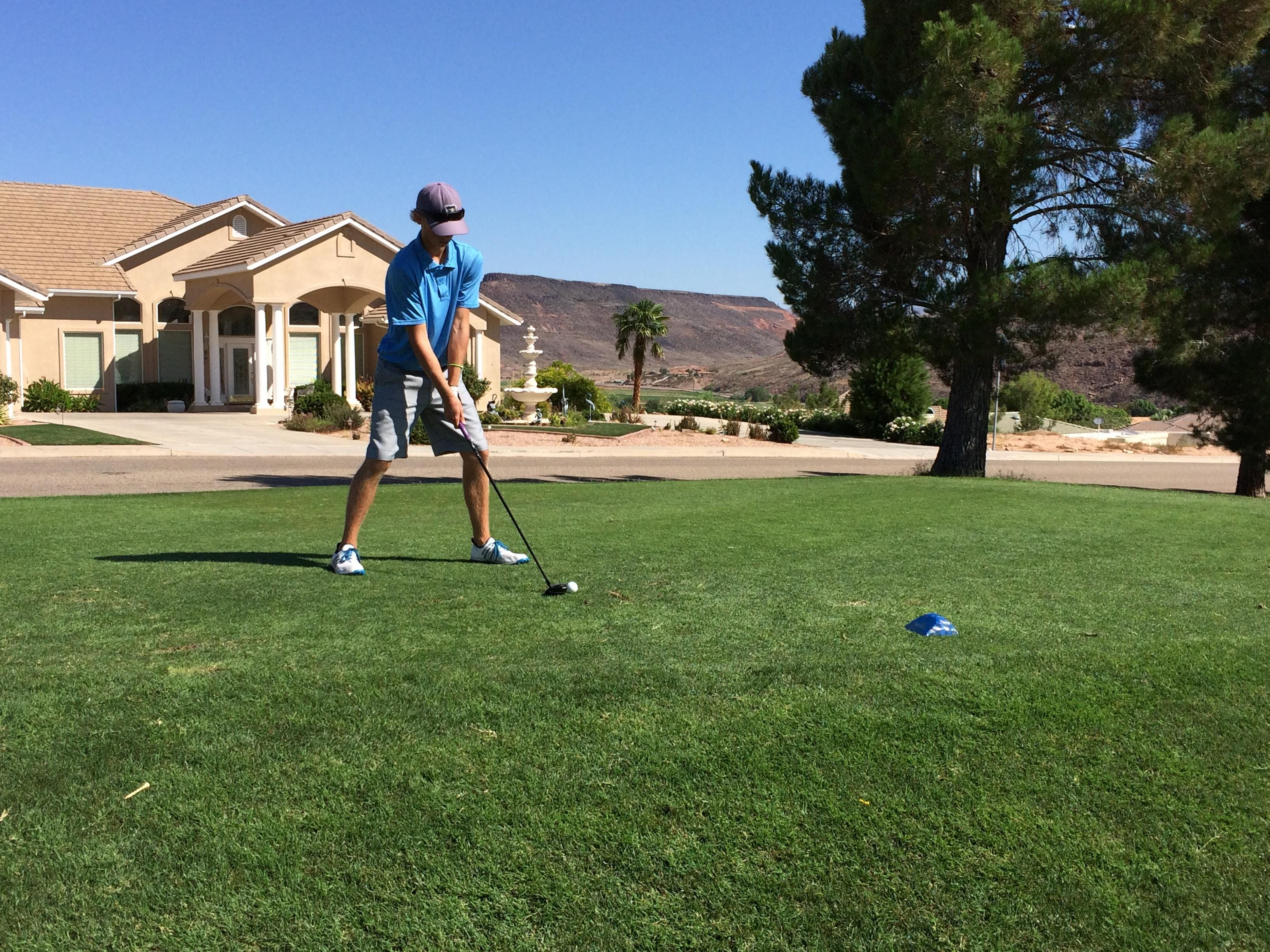 Snow Canyon's Tristan Gardner finished tied for third with Pine View's Noah Schone during the JAG tournament at Southgate Golf Club.