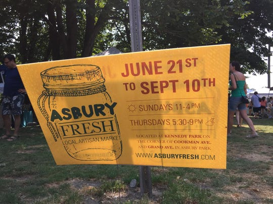 The 13 weeks crew trolled the Asbury Fresh artisan and farmers market on Sunday.