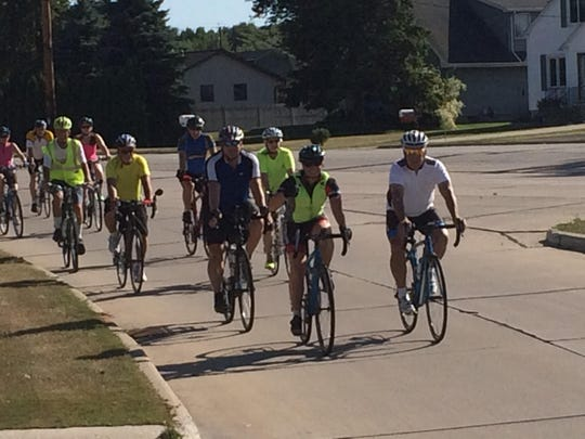 Approximately 20 bicyclists took to the streets of