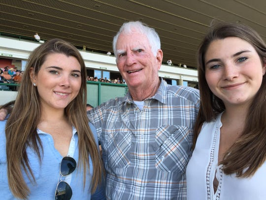 Manasquan's Paul Corliss, center, with granddaughters Diana and Catherine Silvestri in Box 156.
