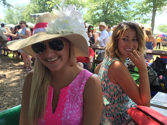 Norah Kronenwetter of Wall (left) made her Haskell day hat.