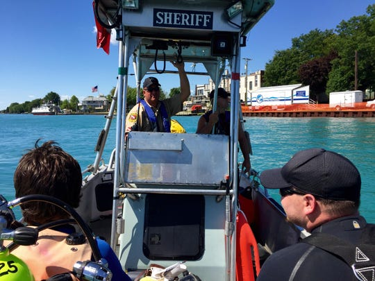 Members of the St. Clair County Sheriff Dive Team patrol community events throughout the year.