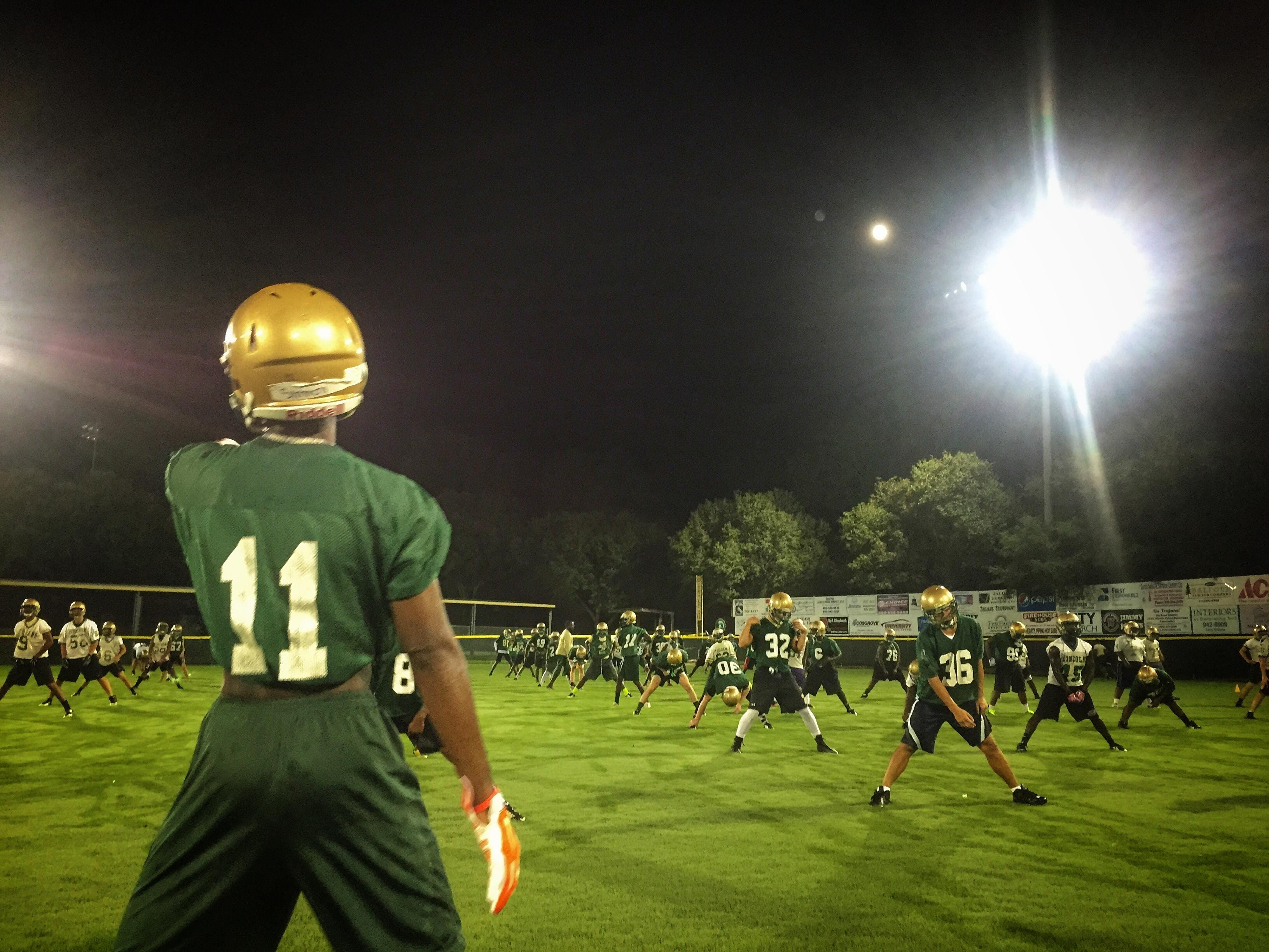 The Lincoln football team participated in Midnight Madness at 12:01 a.m. on Aug. 3, 2015. The tradition was started in 1991 to kick off the fall season.
