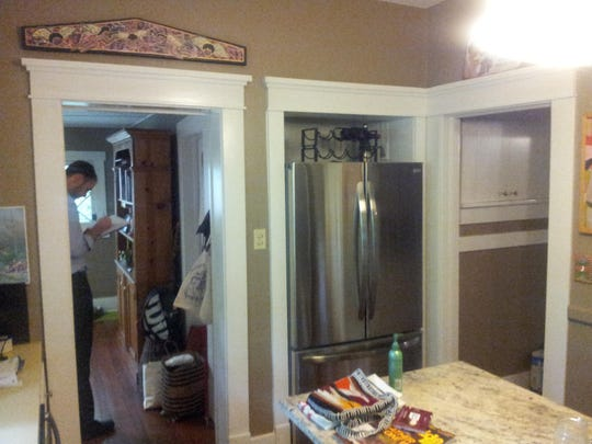This Old Town home was suffering from excessive doorways in a cramped kitchen.