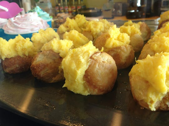 The trademarked Crodoles are croissant-doughnut-holes, stuffed with pineapple-laced cream cheese from Gepetto's Beach Foodies on Sanibel.