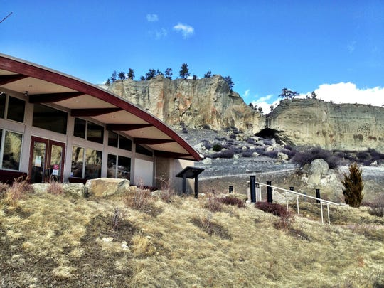 The visitors center at Pictograph Cave State Park