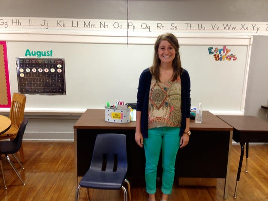 Jennifer Kirkikis is beginning her first year as a teacher on Monday at D.F. Huddle Elementary School.