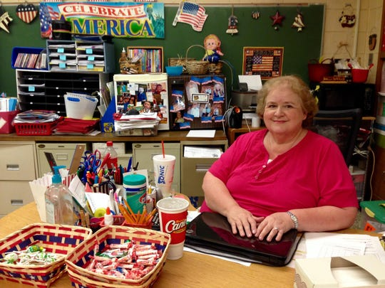Gaye Lynn Ortis is starting her 29th year teaching at J.B. Nachman Elementary. It is her 15th year to teach second grade.