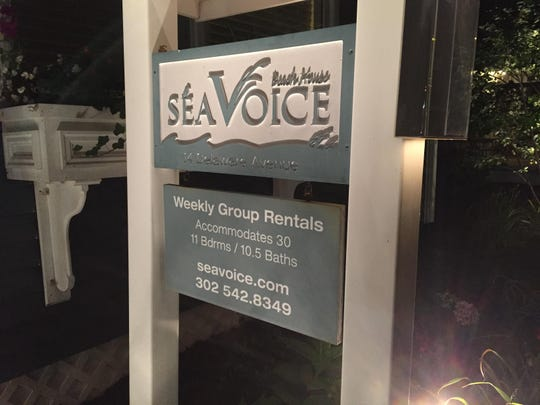 A sign of the times in Rehoboth Beach, rental homes welcome larger numbers of visitors.