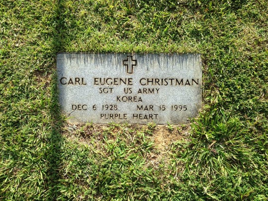 Carl Christman is remembered at Camden City Cemetery