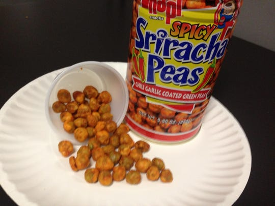 This week's foodie find is sweet and spicy Sriracha Peas.