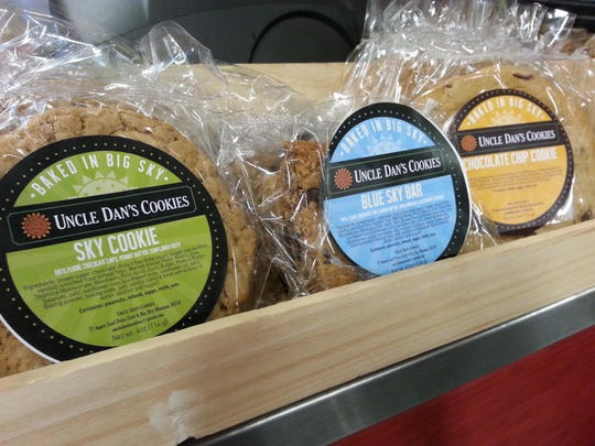 Uncle Dan's Cookies for sale at the Hungry Moose store in Big Sky's Mountain Mall.