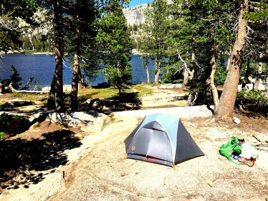 Is this the best campsite in the Sierra Nevada? We think so. It's at Smedberg Lake in Yosemite National Park.