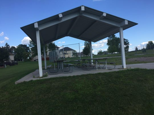 Southwood Heights Park in south St. Cloud boasts a covered shelter with four picnic tables.