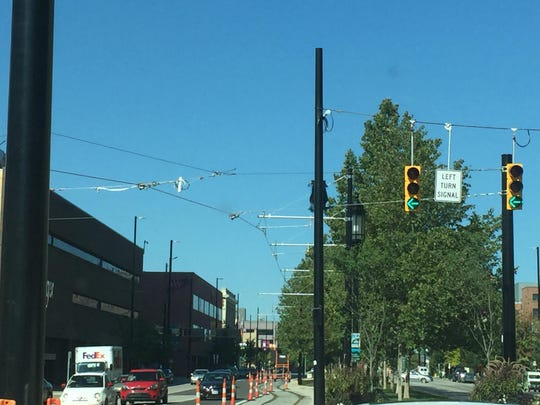 streetcar wires