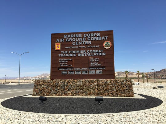 New Combat Center Sign