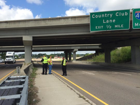 TDOT is preparing for possible lane closures on Highway 412 after a truck carrying equipment hit a sign and overpass on Hollywood Drive Tuesday.