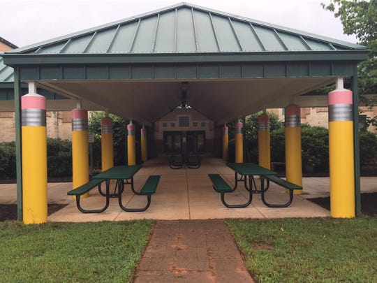 The entrance of Avery's Creek Elementary got a new look over the summer.
