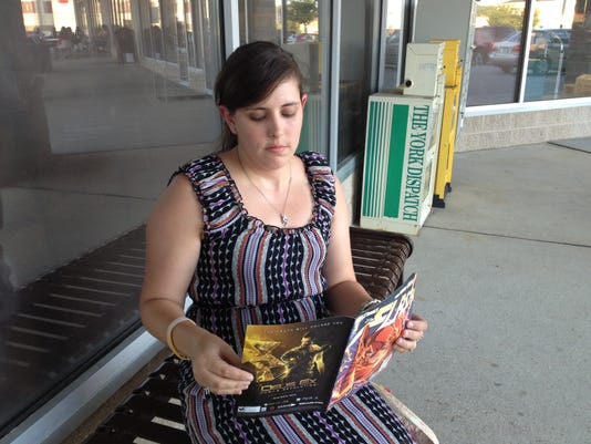 """Reading """"The Flash"""" outside."""