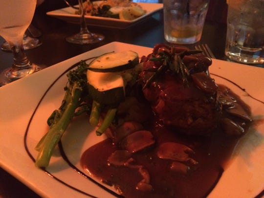 The filet mignon with wild-mushroom demi-glace from Brew Babies in Cape Coral.