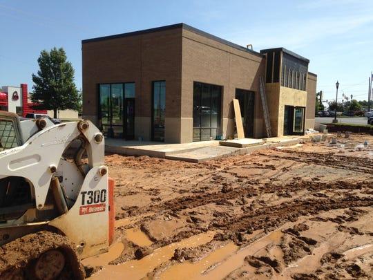 Construction continues at Starbucks at 8 Lanese Dockery Drive.