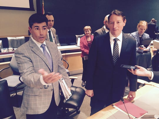 Rep. Jose Oliva, R-Hialeah, (L) and Sen. Bill Galvano, R-Bradenton.