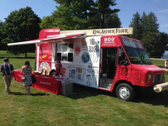 The King Arthur Flour Bake Truck which travels the country handing out cookies and collecting donations for local hunger-relief organizations.