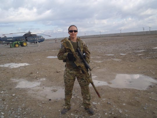 Franklin police officer Leigh Ann Hester recently returned from Afghanistan, where she served as a Cultural Support Team member.