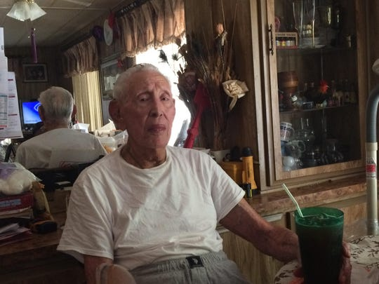 Roy Salazar turned 104 Aug. 10. He sits at home in this photo reminiscing about his life.