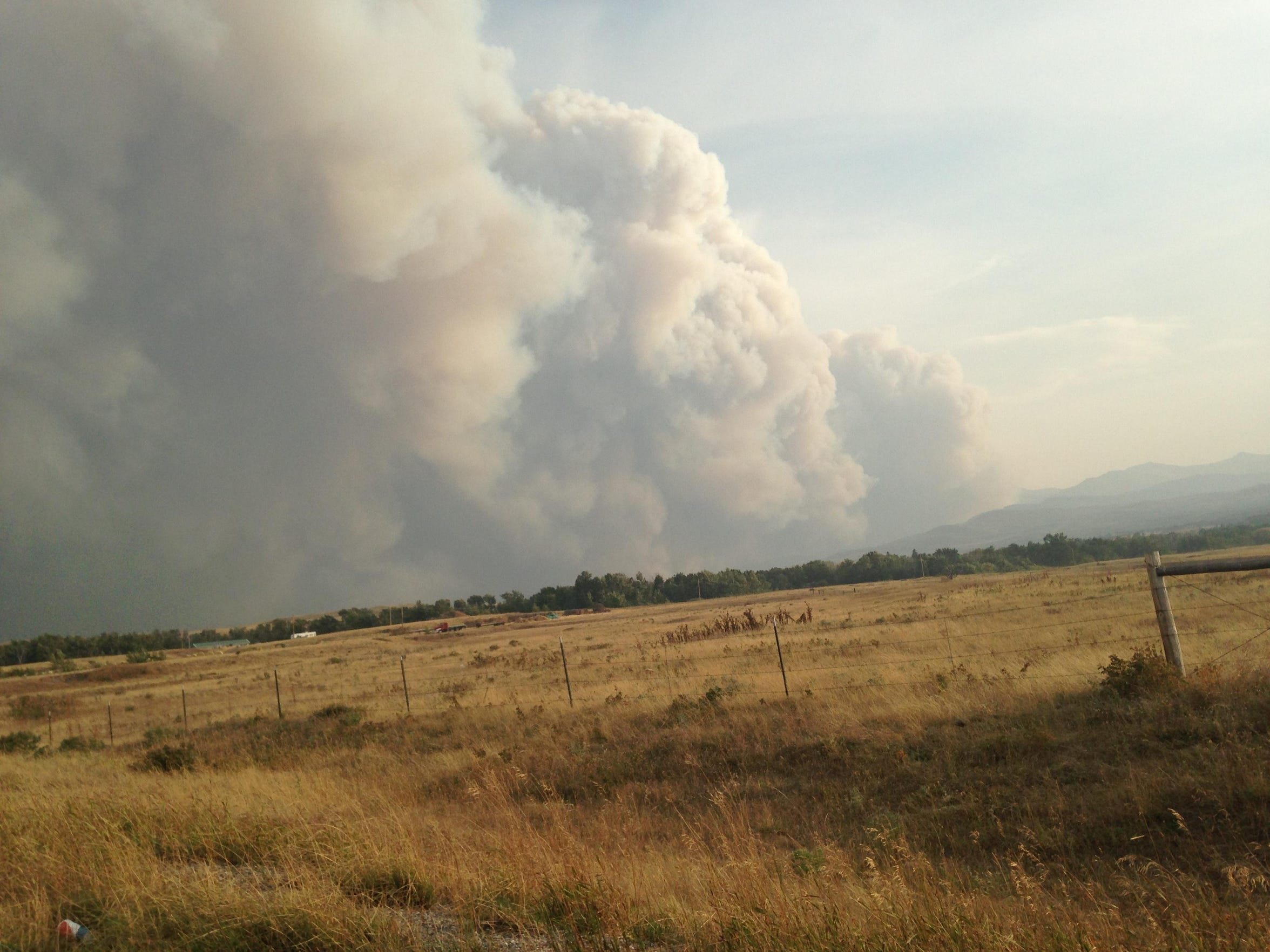 The Spotted Eagle fire, which was sparked by lightning