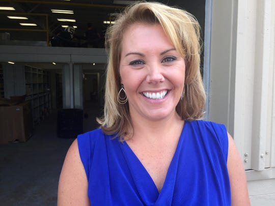 """Monica Peck, co-owner of Hare Truck Center, said the three-way partnership with Noblesville High School and Ivy Tech Community College is a """"win-win-win."""""""