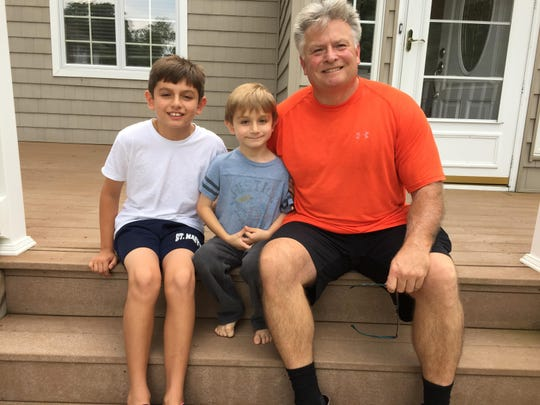 Tom Largey with his nephews Nate (left) and Zachary (center)