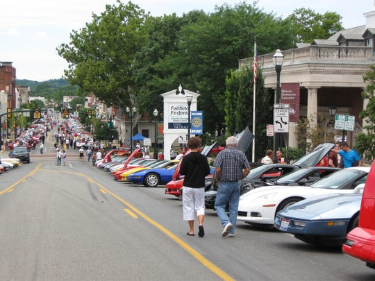 Hundreds of Chevrolet Corvettes are expected to line downtown streets Sept. 9 for the annual Ohio Corvette Club Alliance show like they did in this file photo.