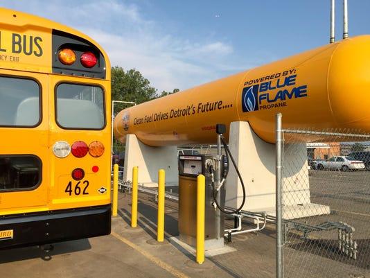 Detroit Public Schools Blue Bird Vision Propane bus1