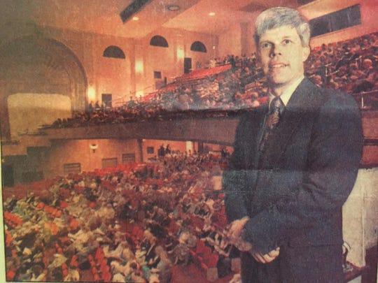 This photograph shows Thomas Weidemann 22 years ago