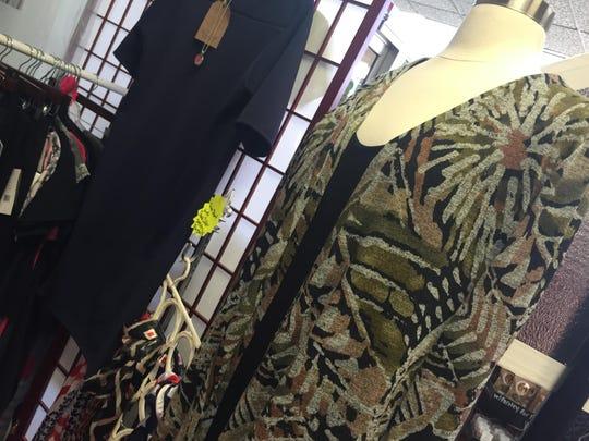 Sand Dollar Designs include dresses, skirts, tunics, leggings and formalwear.
