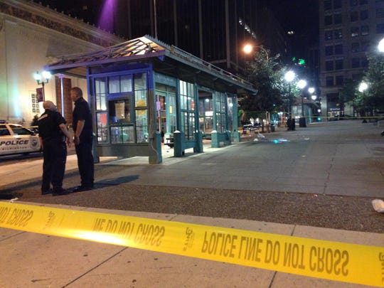 "Court documents say suspect Calvin Hooker III admitted to police that he stabbed Thomas L. ""Cannibal"" Cottingham of Wilmington, at the DART bus shelter at Rodney Square."