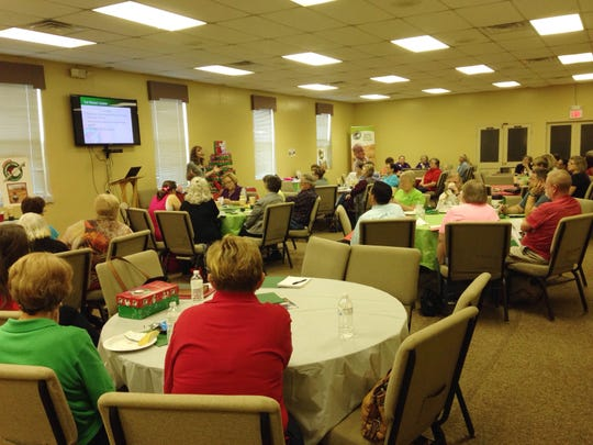 About 70 Operation Christmas Child project leaders gathered at Englewood Baptist Church Thursday night to learn more about Samaritan's Purse and share ideas for their shoebox packing in the coming weeks.
