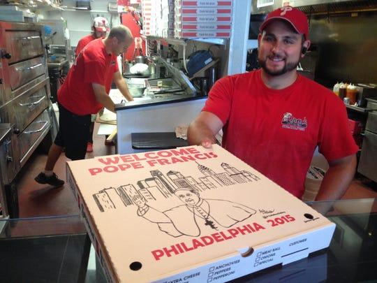 Dominick Filingeri, owner of Dom's NY Style Pizzeria