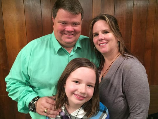 The Ruckles – Newark City Councilman Todd Ruckle, his wife Maria and their youngest child, Emily – on Sunday celebrated the one-year anniversary of the 9-year-old's suvival of a near-fatal dog mauling.
