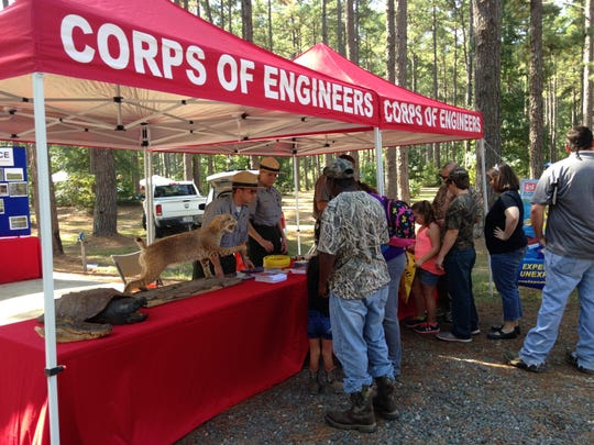 The U.S. Army Corps of Engineers handed out coloring books and other items to children at the 2015 National Hunting and Fishing Day Celebration at the Bodcau Wildlife Management Area.