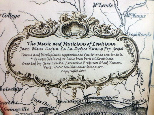 Louisiana Music Map