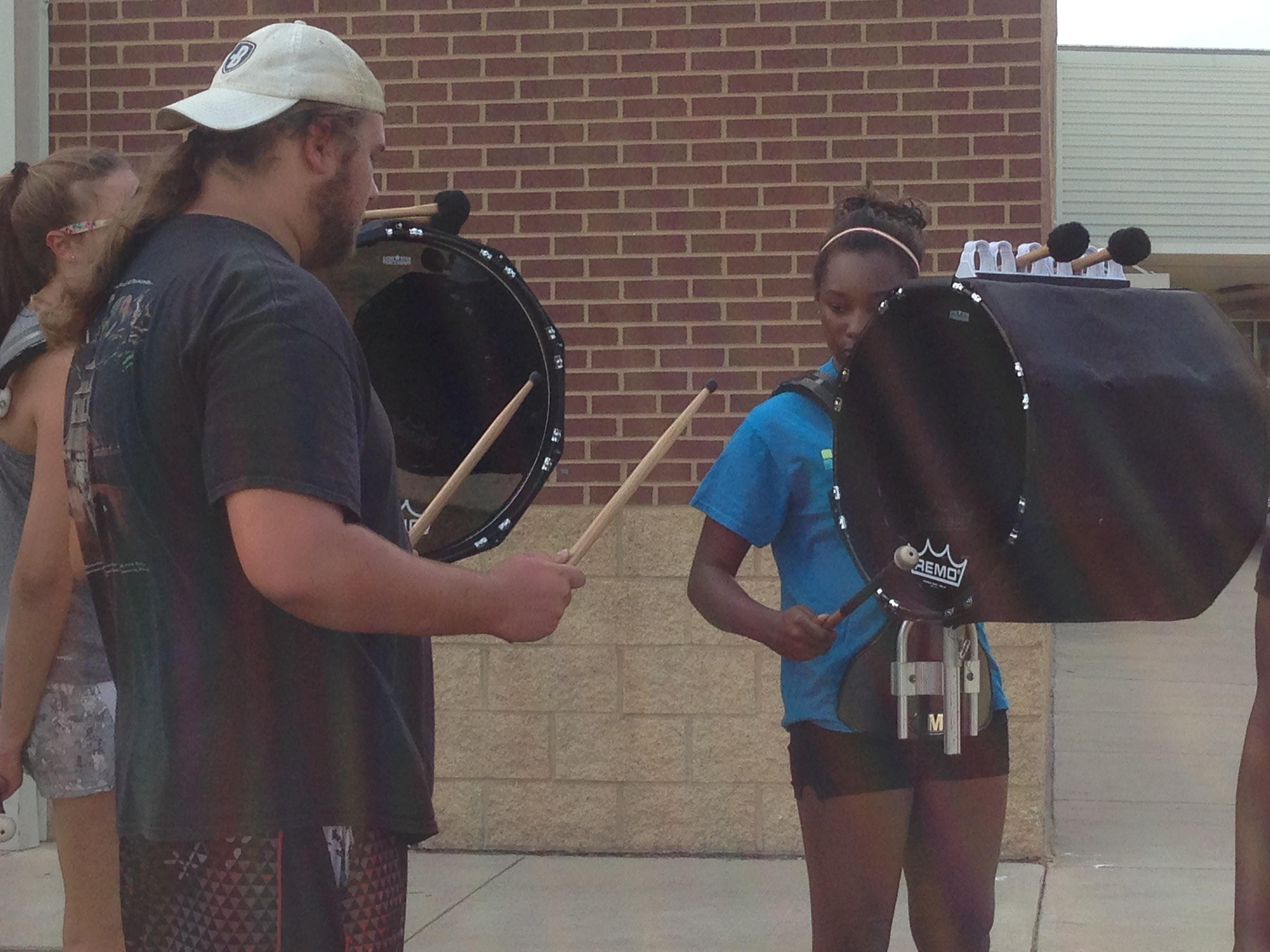 Students rehearse at Parkway High School in Bossier City.